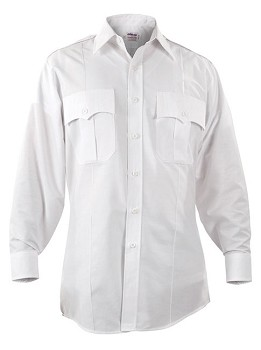Elbeco Long Sleeve Button Down Shirt - White